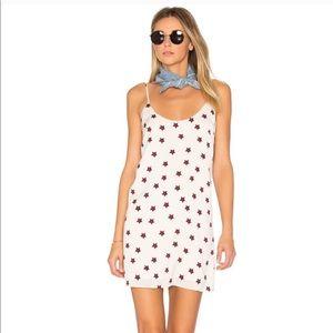 By the way capri cami mini dress cream red stars